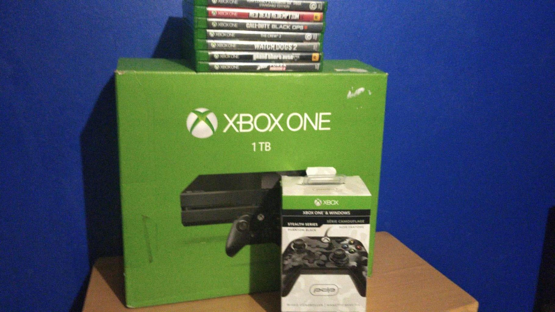 Xbox one console with games swop for gaming pc