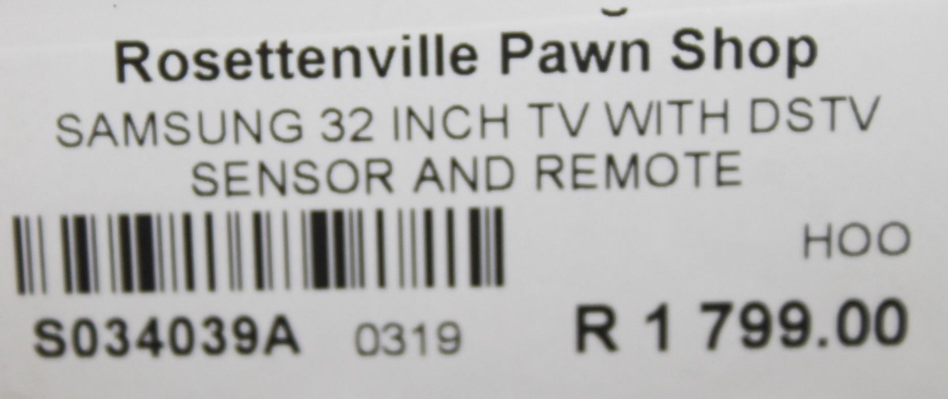 """Samsung 32"""" TV S034039A #Rosettenvillepawnshop"""
