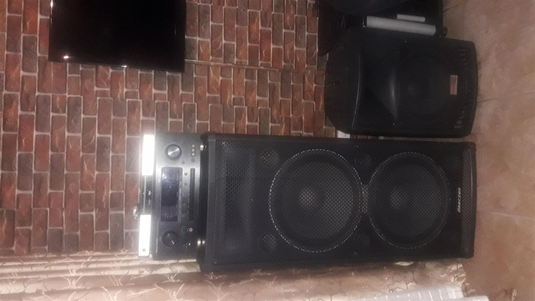 Amplifier,dvd&mp3 and speakers