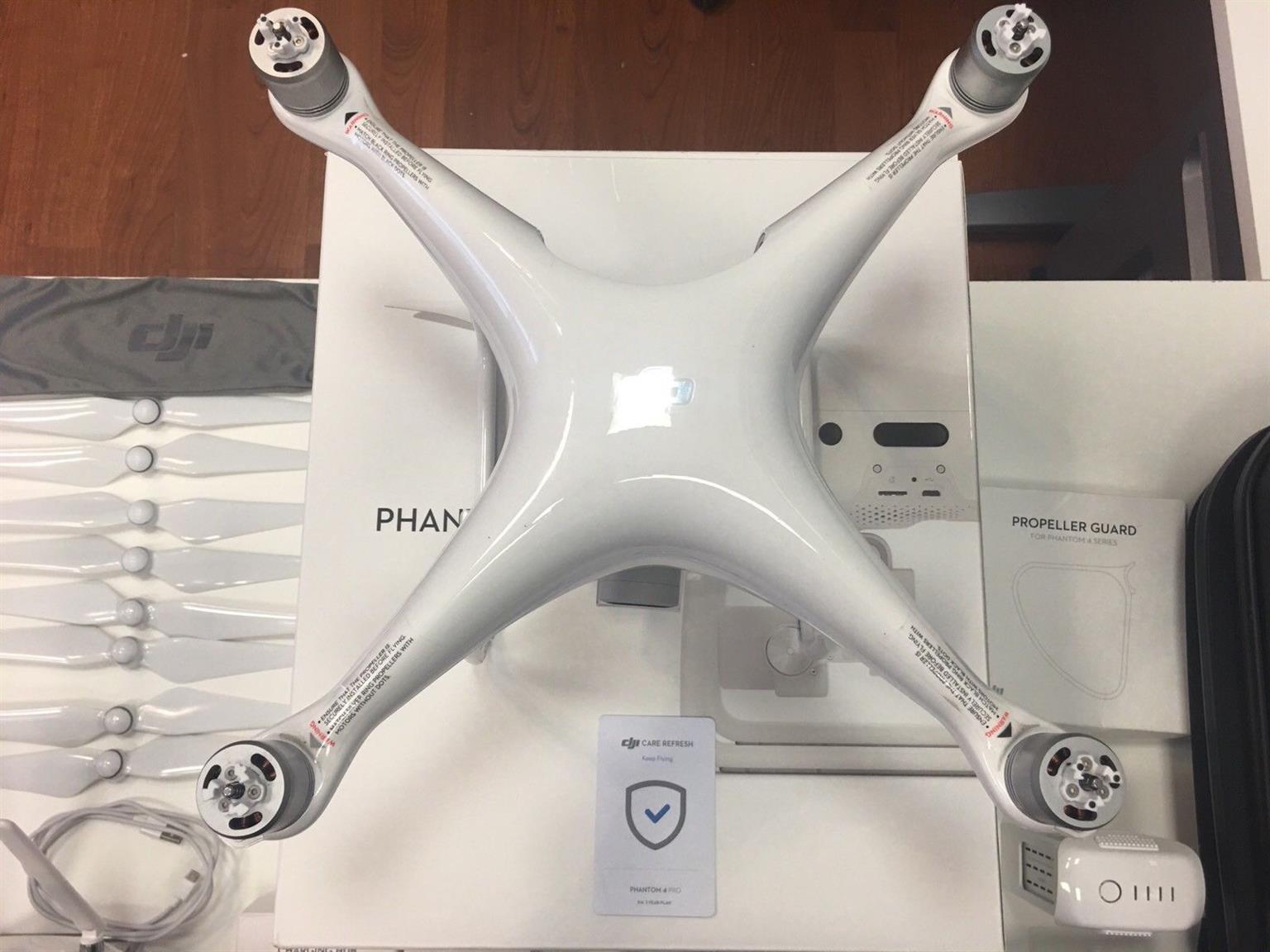 Fairly used DJI phantom 4 professional plus 3 hours flying time