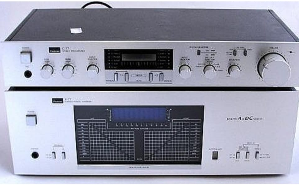 Sansui B-77 and C77 amp and pre amp