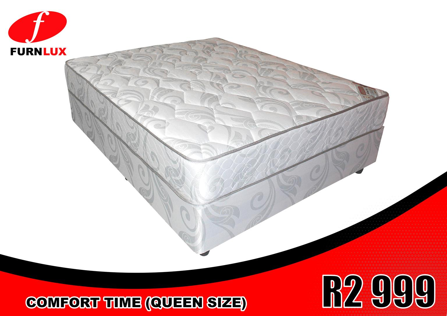 MATTRESS AND BASE BRAND NEW COMFORT TIME FOR ONLY R 2 999 !!!!!