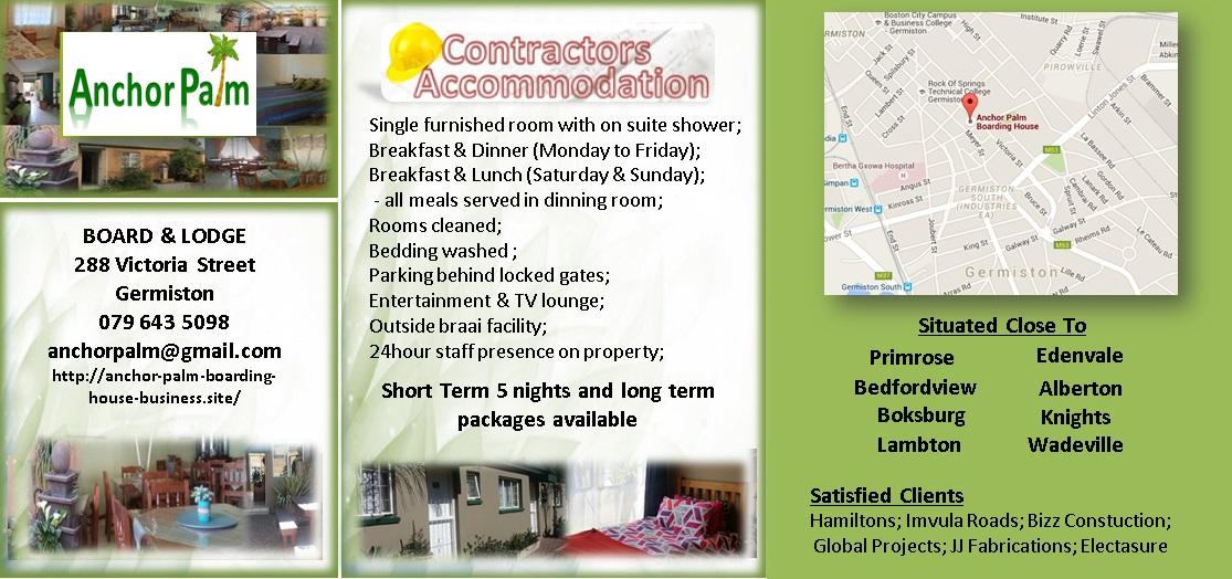 Contractors Accommodation East Rand Germiston