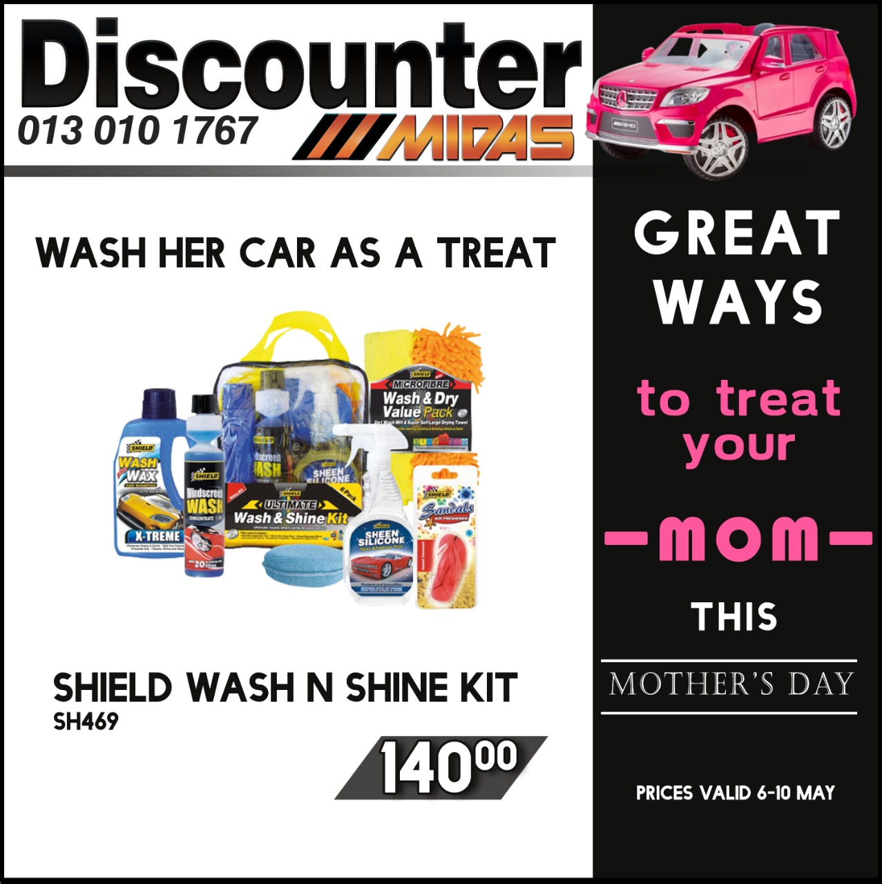 Great ways to Treat your Mom this Mother's Day at Discounter Midas!