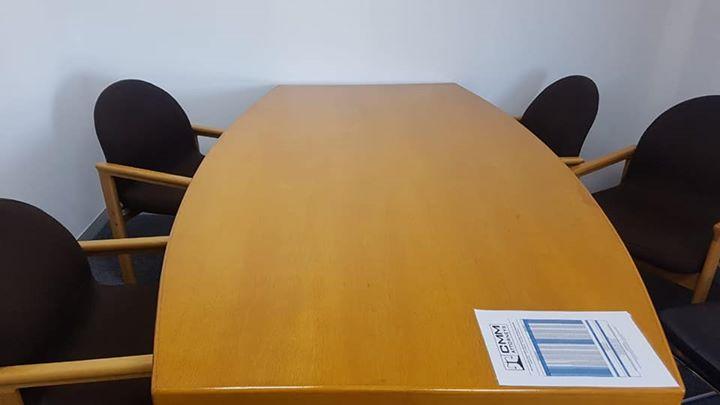 Oak boardroom table excellent condition
