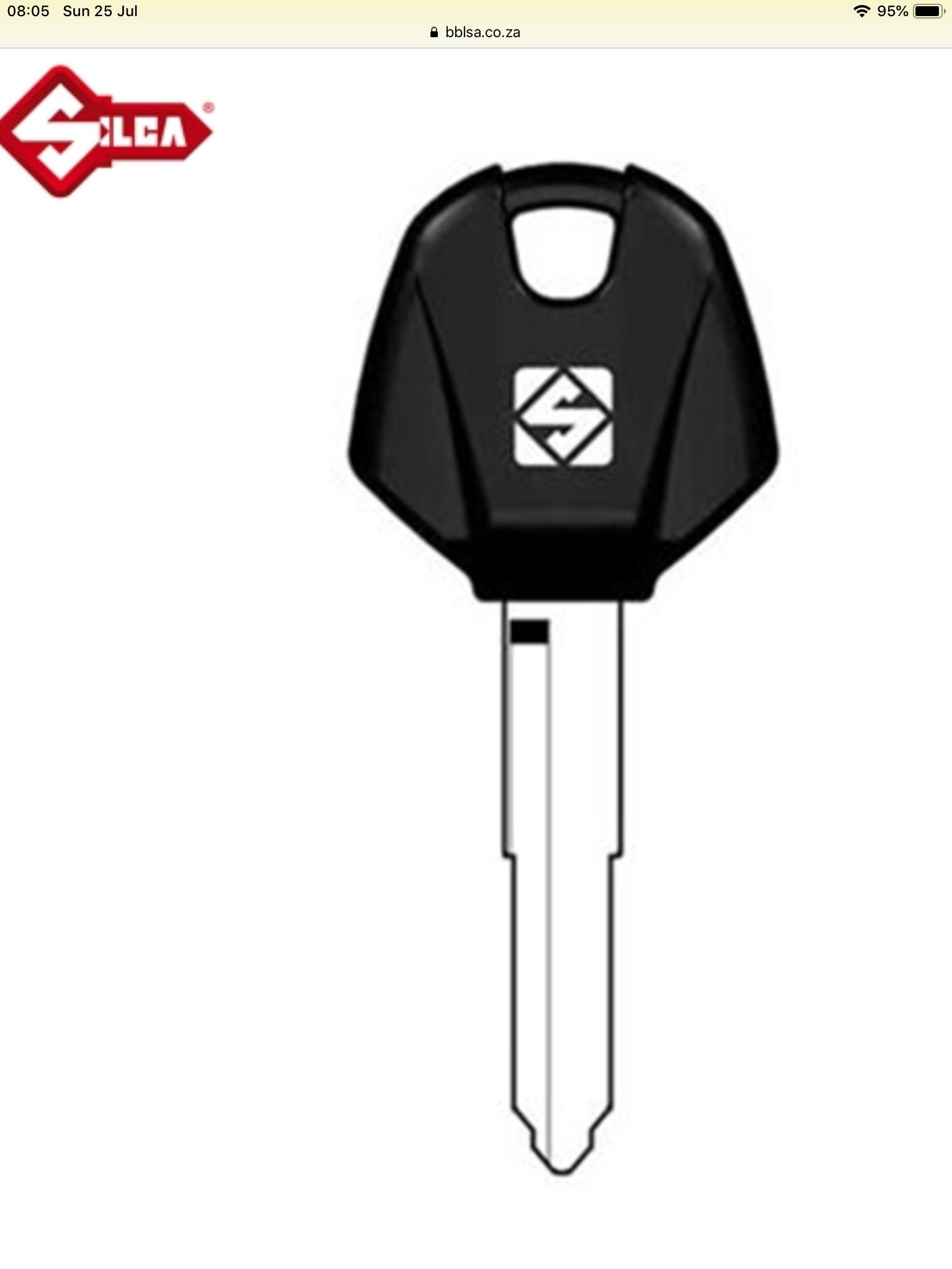 Transponder keys for yamaha/vespa
