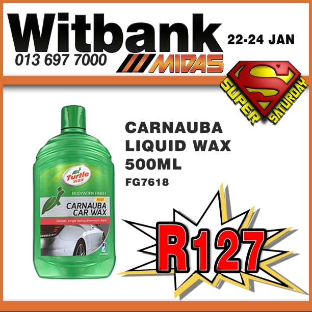 Turtle Wax Carnauba Car Wax ONLY R127!