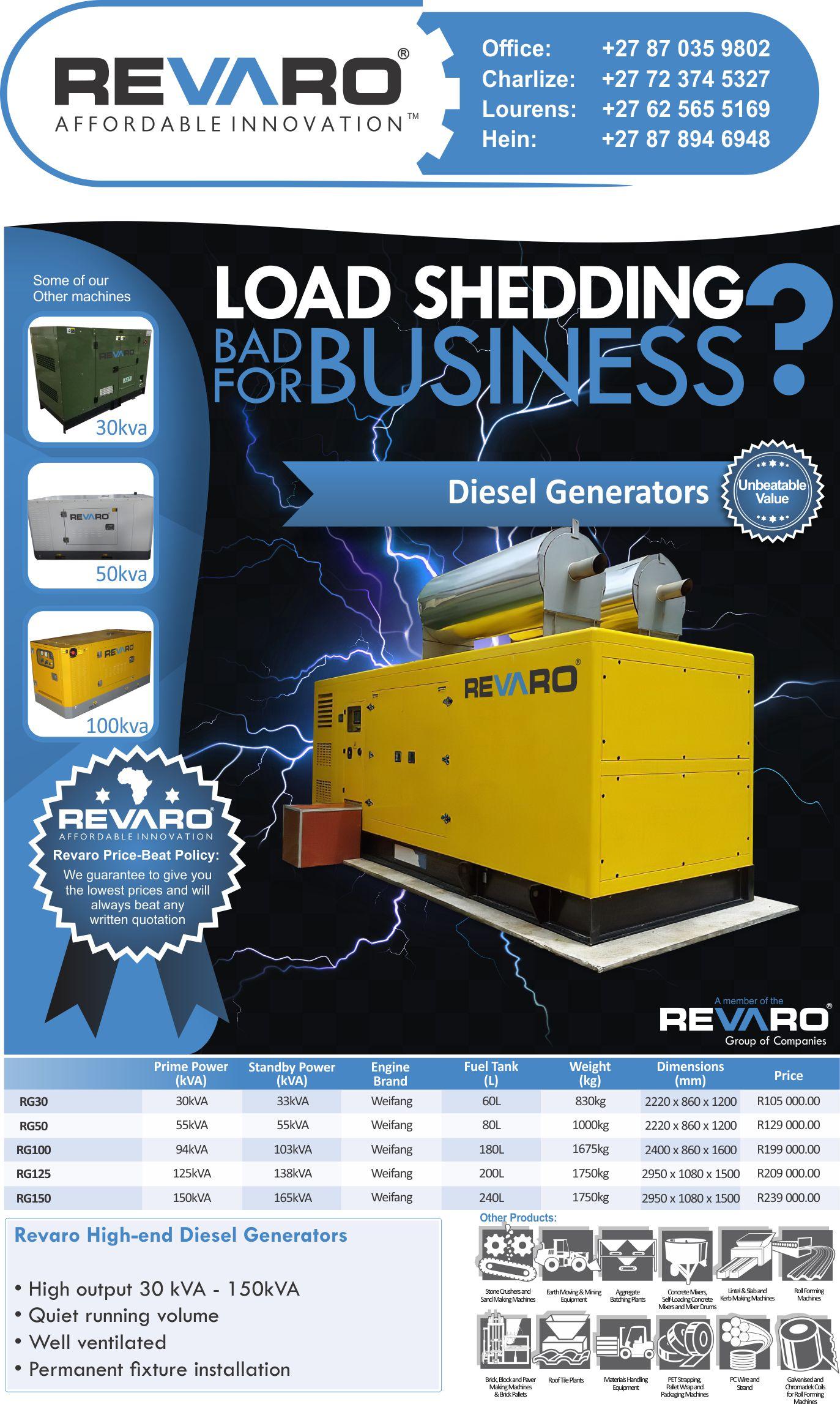 Revaro High-end Diesel Generators