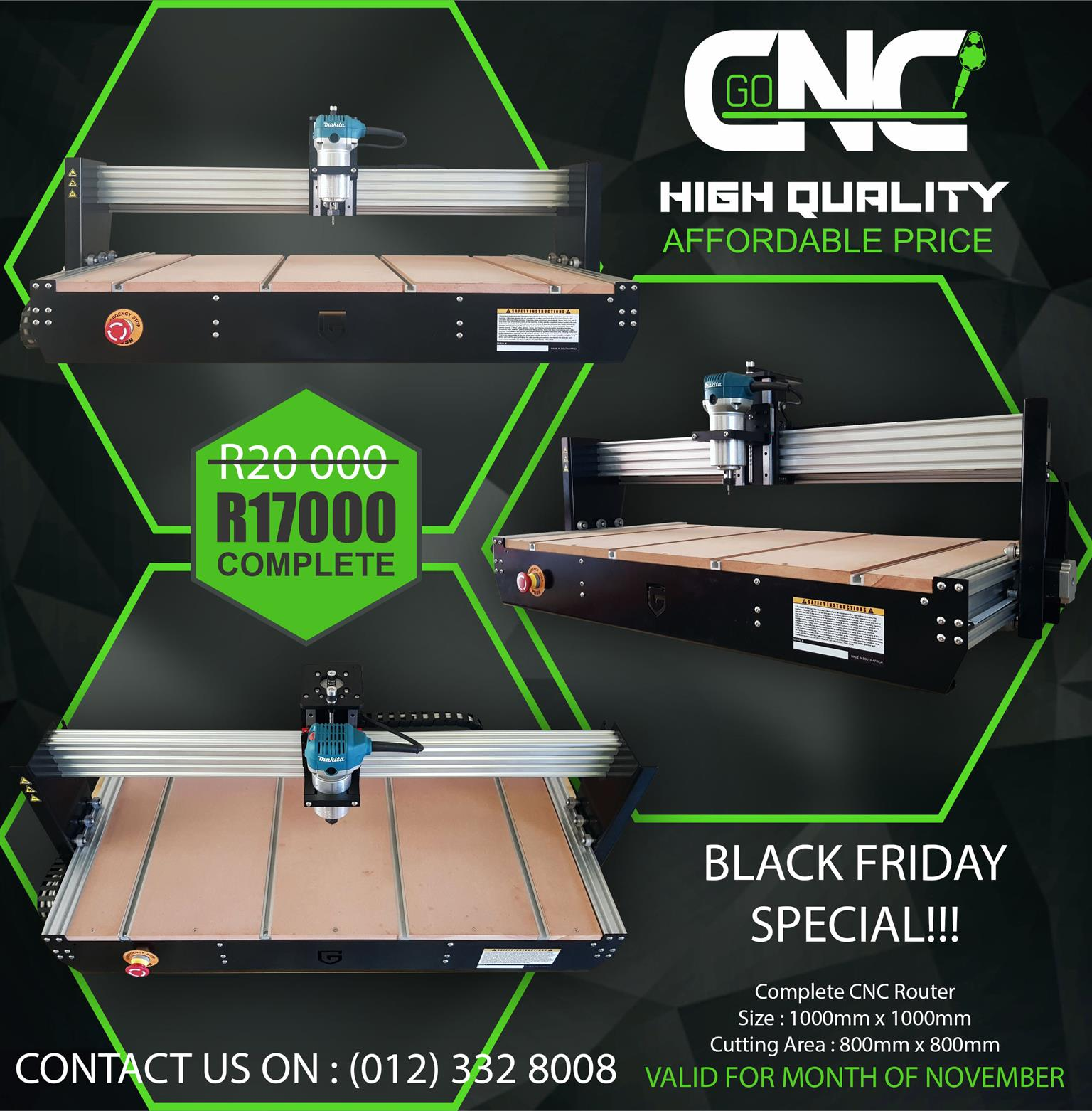 CNC ROUTER BLACK FRIDAY SPECIAL