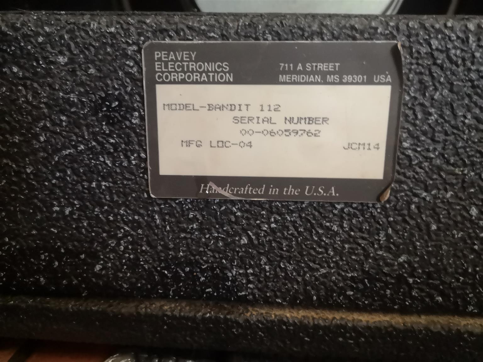 Peavy Bandit 112 Amplifier