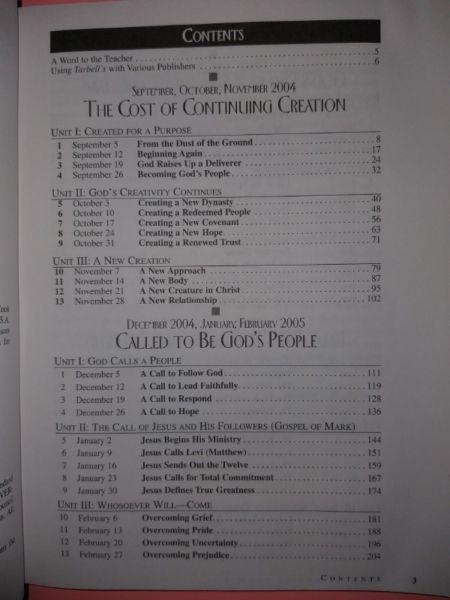 Tarbell's KJV & NRSV Lesson Commentary - September 2004 - August 2005.