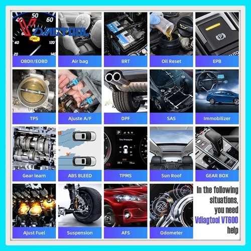 Diagnostic tool: VDIAGTOOL VT600 Auto diagnostic tool professional system with full functions
