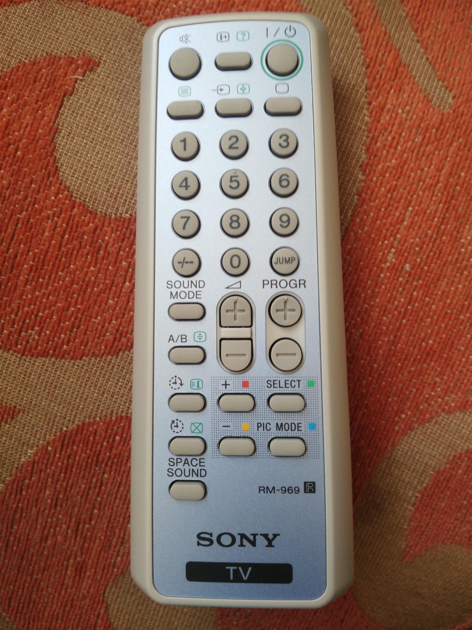 Sony Vega tv remote