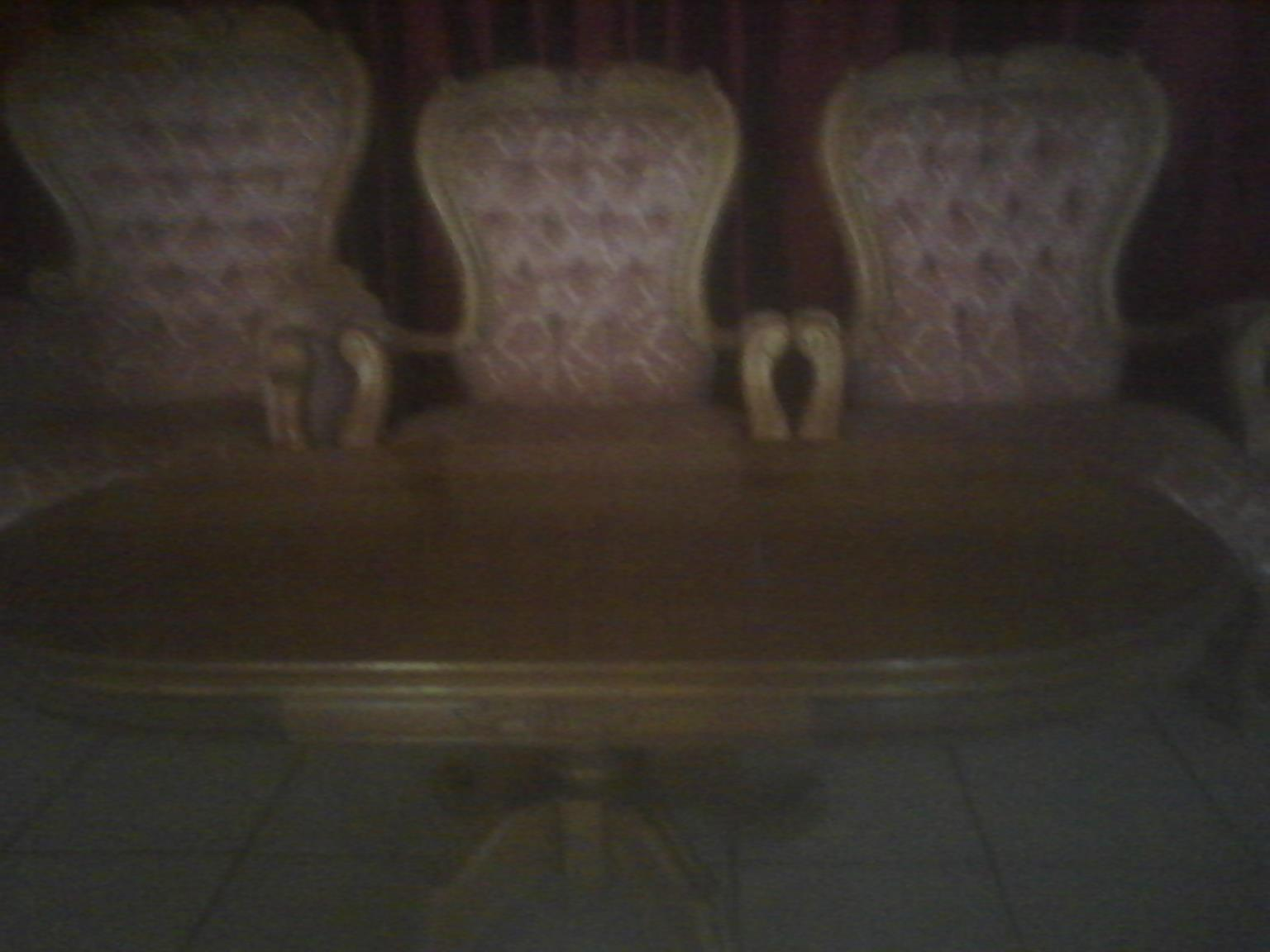 Beautiful Antique Coffee Table and lounge Chairs