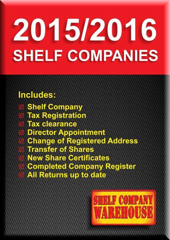 AGED SHELF COMPANY AVAILABLE NOW