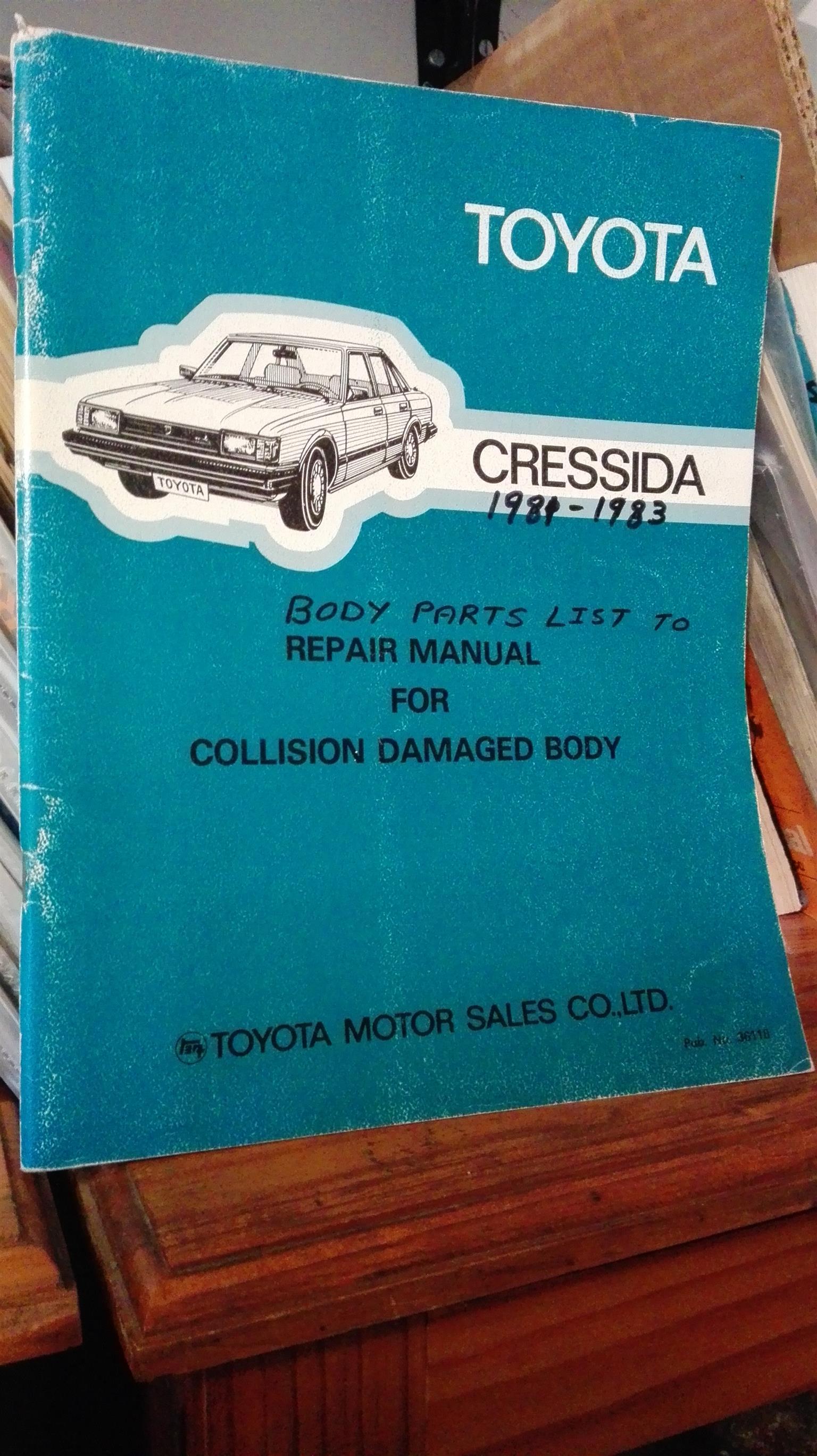 Cressida 1981 - 1983: body parts list