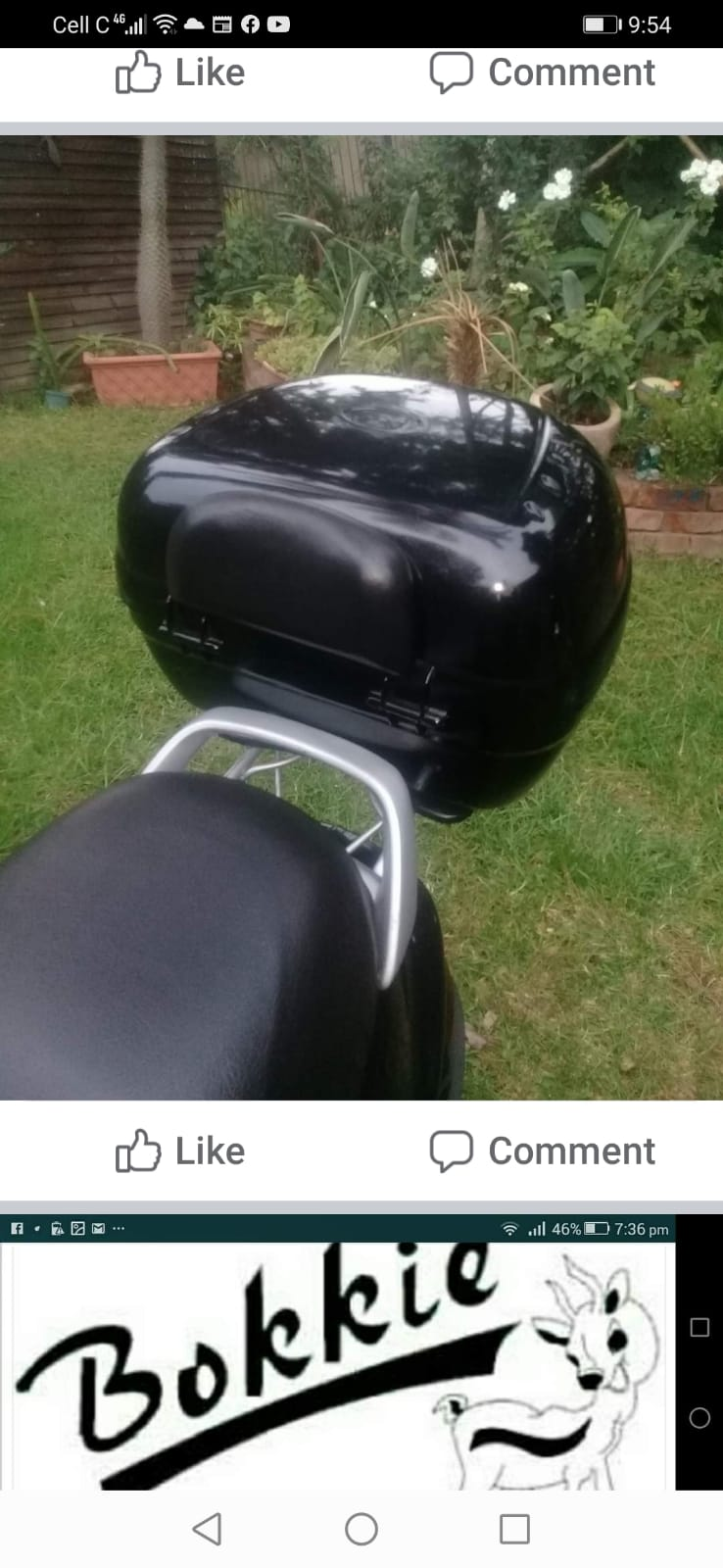 Duke 125 scooter with extras plus 2 helmets