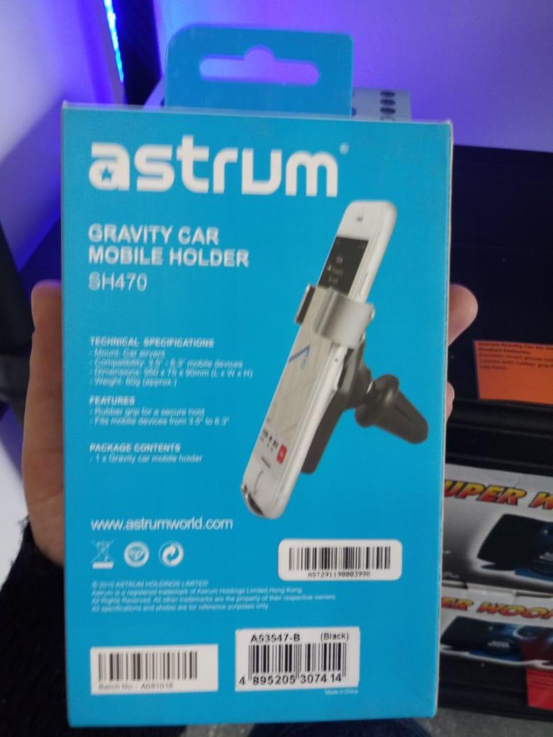 BEST SELLER: ASTRUM SH470 GRAVITY CAR MOBILE HOLDER - AIR VENT MOUNT