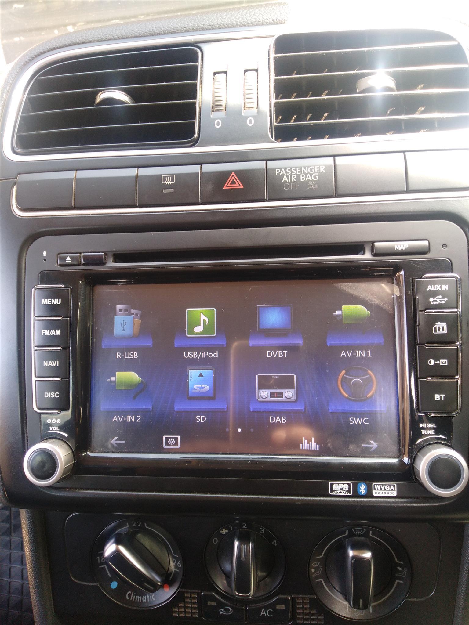 Touchscreen double din DVD radio, Amp, Limpid Speakers
