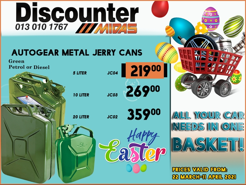 Get Autogear Metal Jerry Cans at these LOW prices!