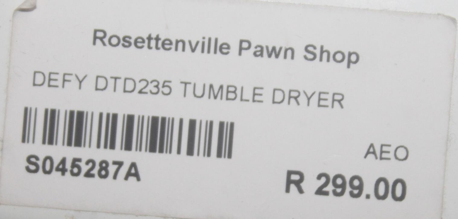 DEFY DID235 TUMBLE DRIER S045287A #Rosettenvillepawnshop