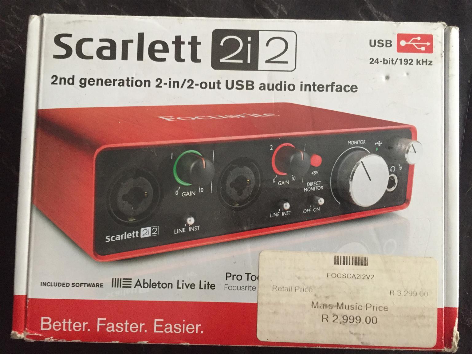 Scarlet 2i2 with Samson C01