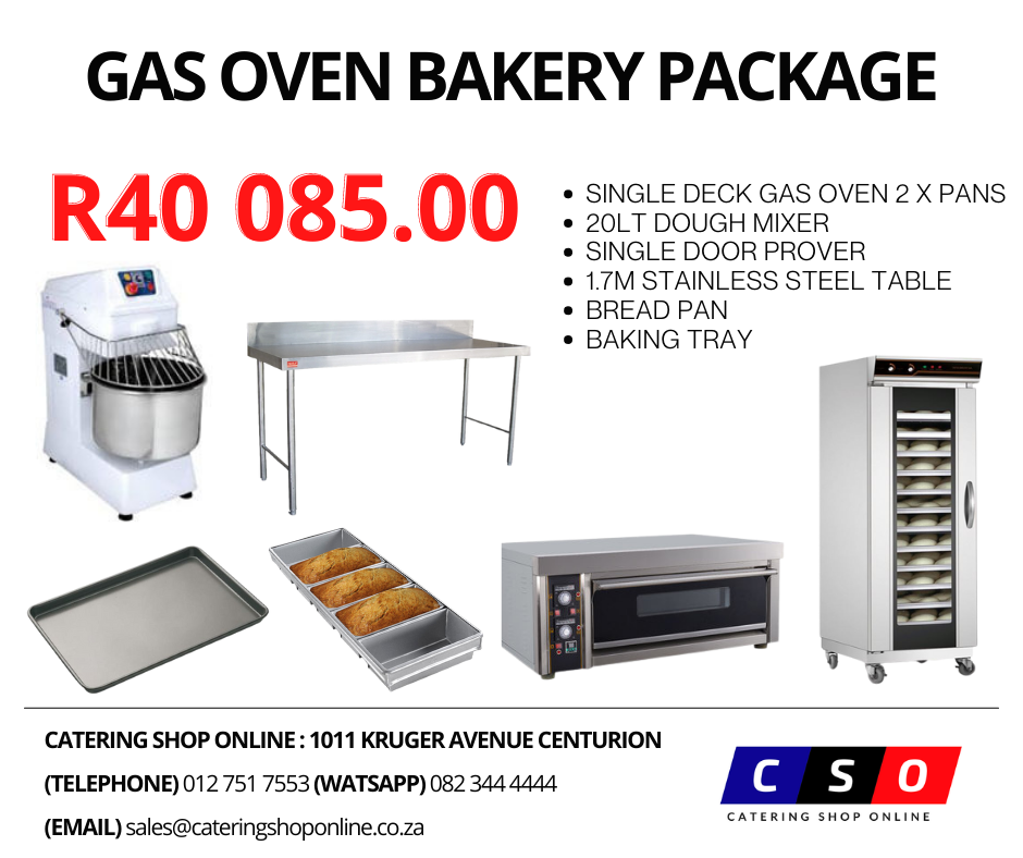 Gas Oven Bakery Package