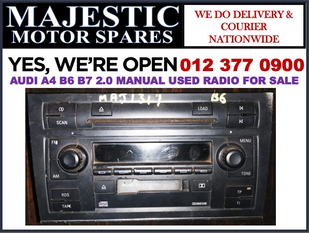 Audi A4 B6 B7 used radio for sale Audi used spares