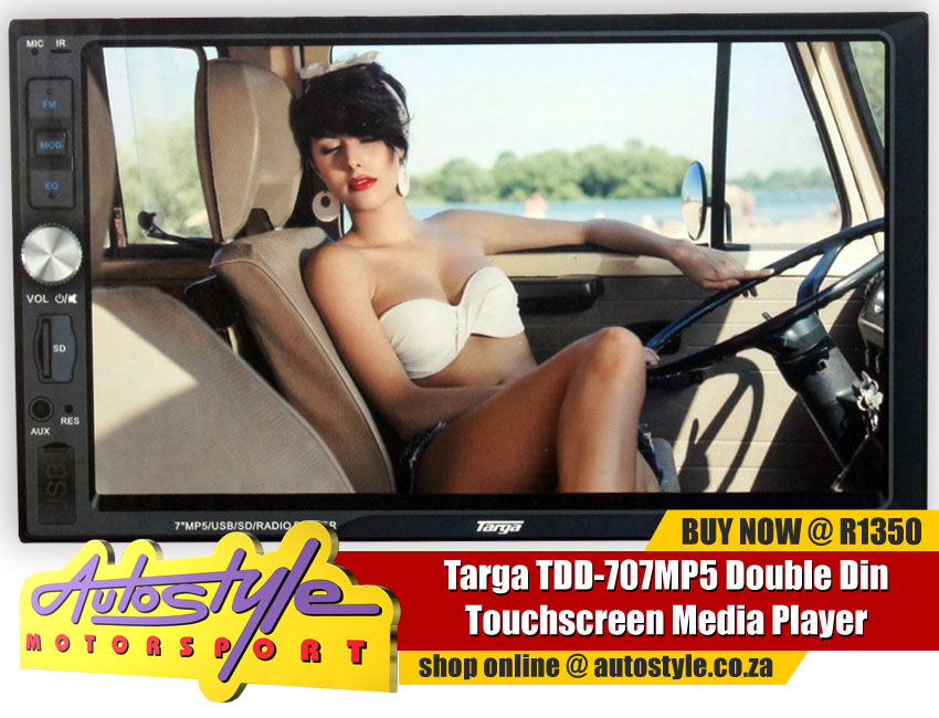 Targa TDD-707MP5 Double Din Touchscreen Media Player with bluetooth