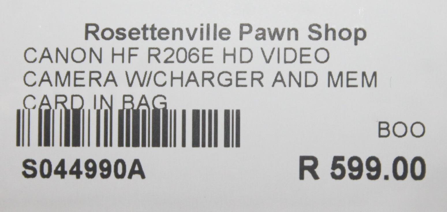 Canon hd video camera with charger in bag S044990A #Rosettenvillepawnshop