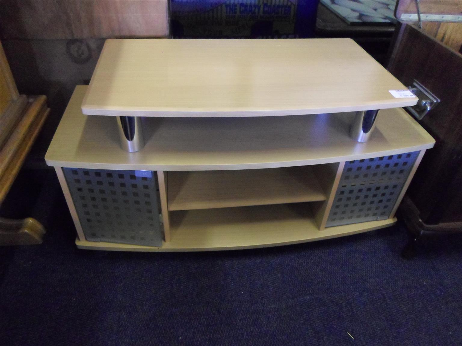 Wooden TV Stand 2 Doors