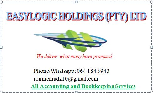 Affordable and Guaranteed Accounting and Bookkeeping Services, SARS Taxation, CIPC, Financial and Management Accounts