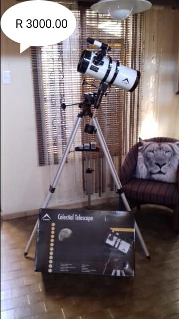 Celestial telescope on tripod