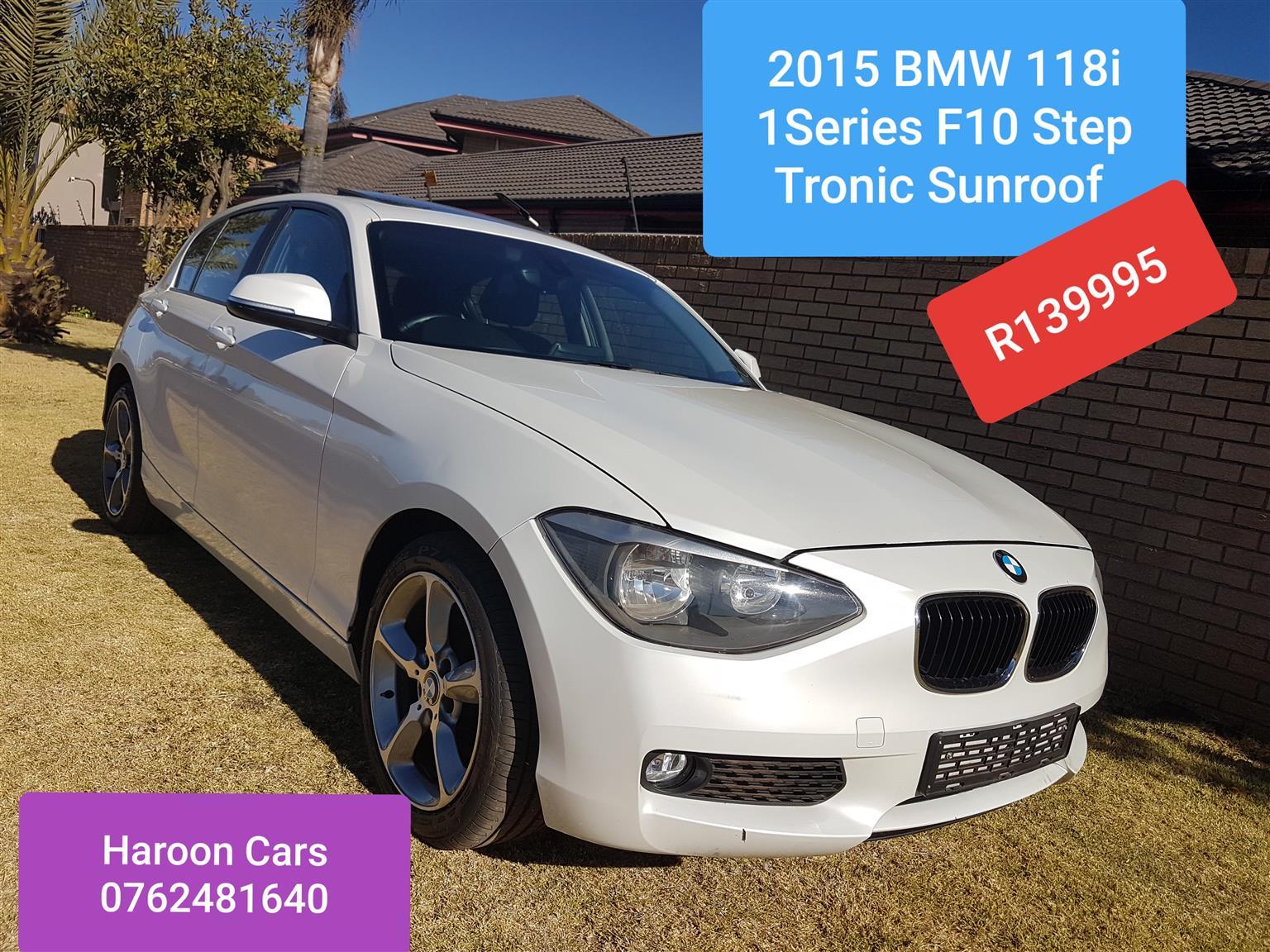 2015 BMW 1 Series 118i 5 door Exclusive steptronic