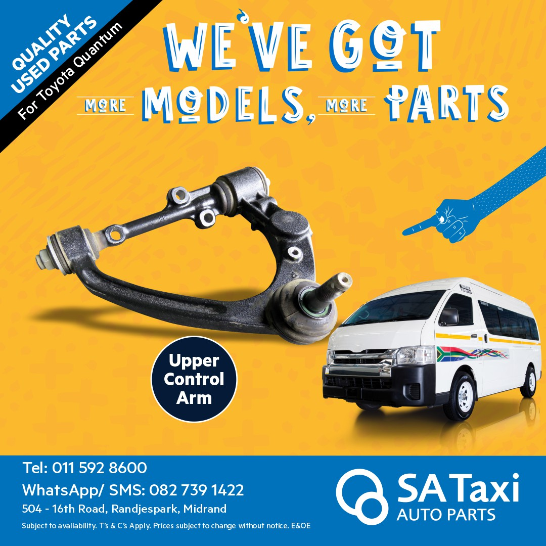 Upper Control Arm suitable for Toyota Quantum - SA Taxi Auto Parts quality used spares