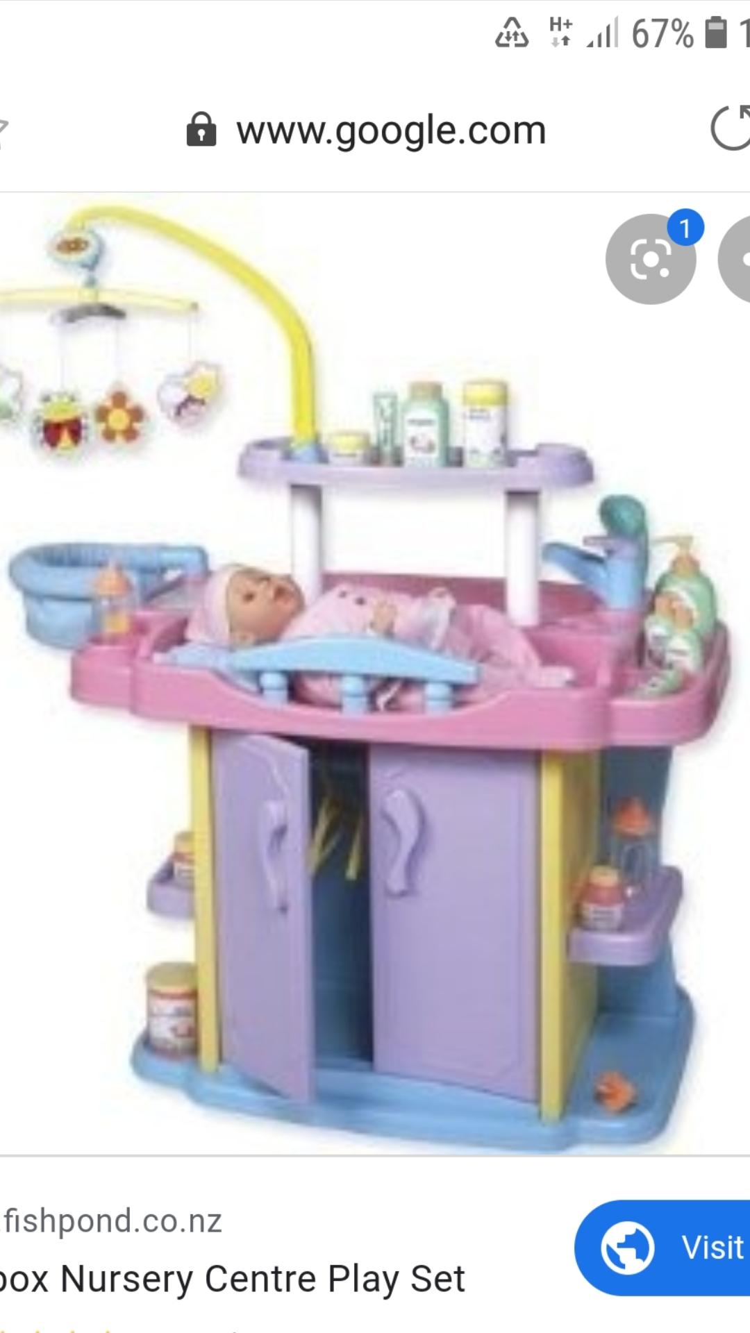Redbox Nursery Center and accessories