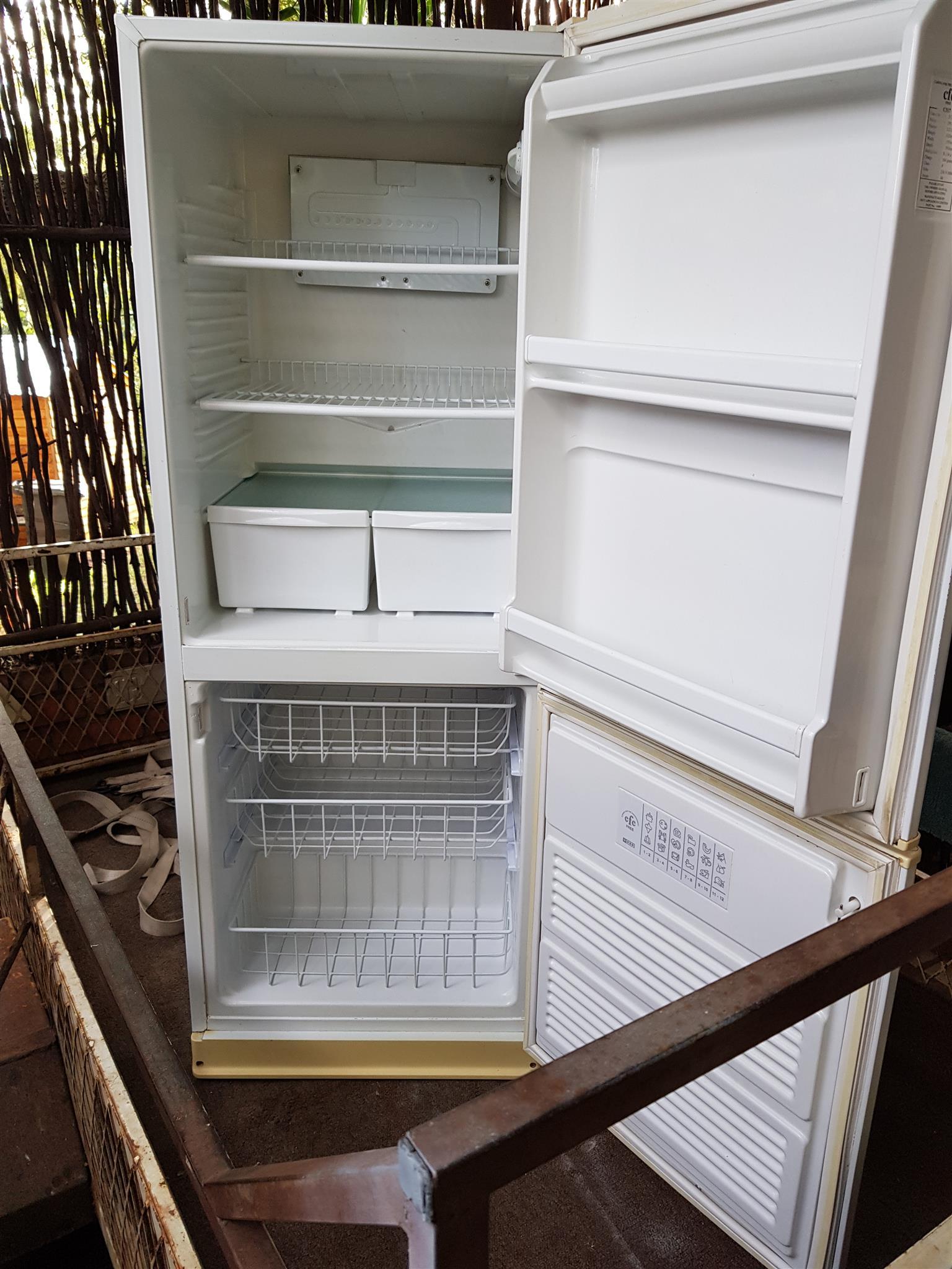 white 320 liter double door fridge freezer in very good. Black Bedroom Furniture Sets. Home Design Ideas