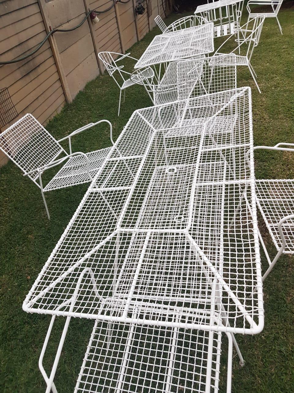 4 x  Steel wire garden sets