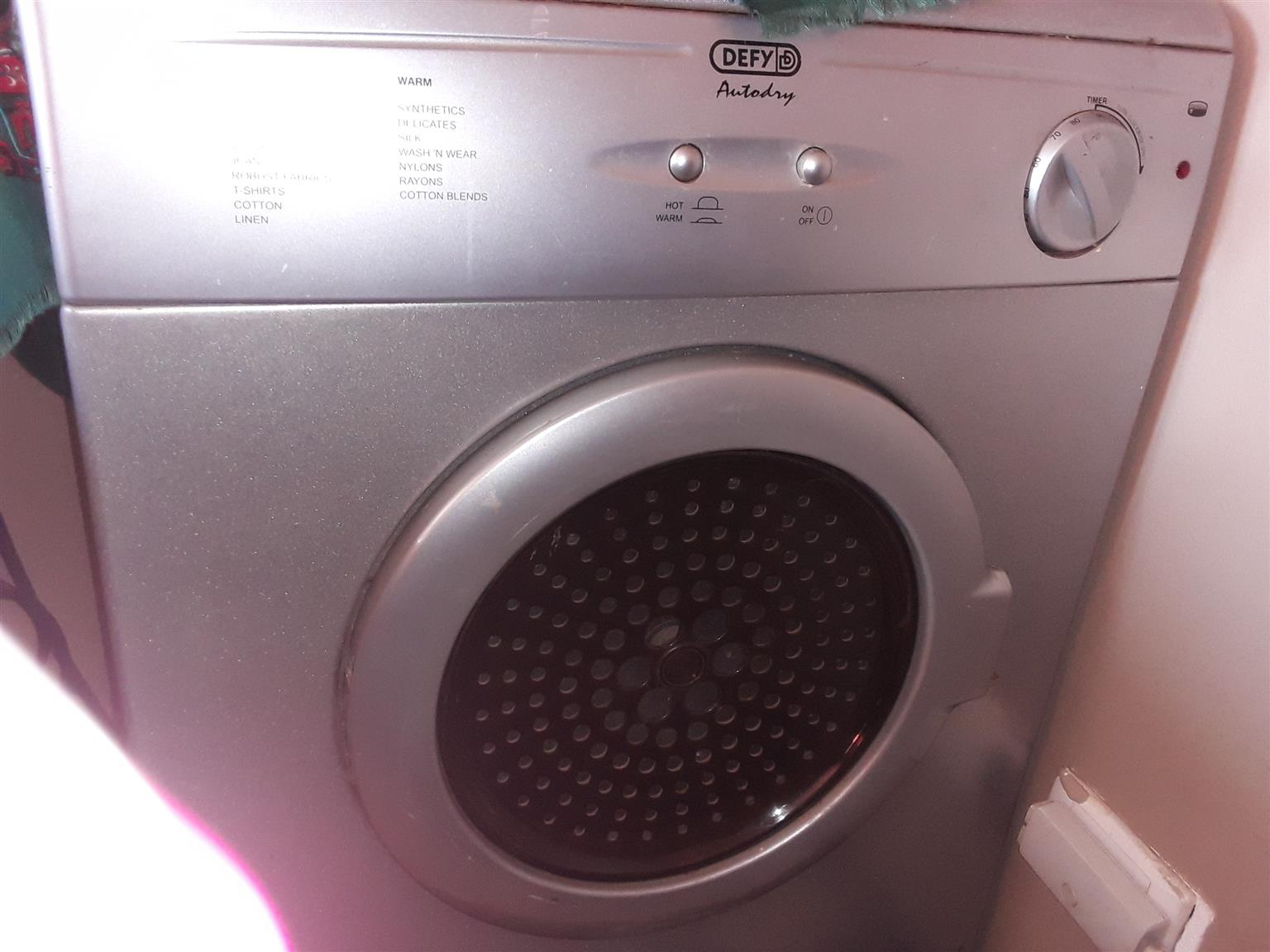 Defy tumble dryer silver just needs new fan belt they cost