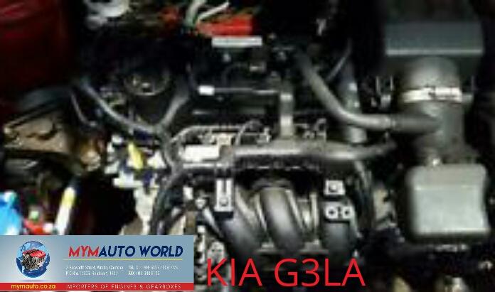 Imported used  KIA PICANTO 1.0L 3CYL, G3LA engine Complete