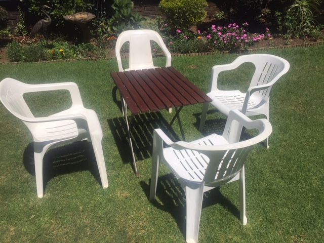 Garden Chairs and coffee table