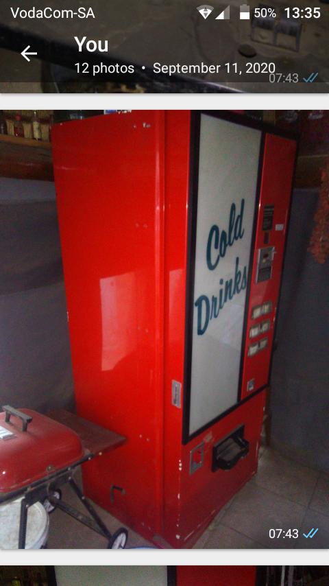 Soda vending machine for swop for bar frige