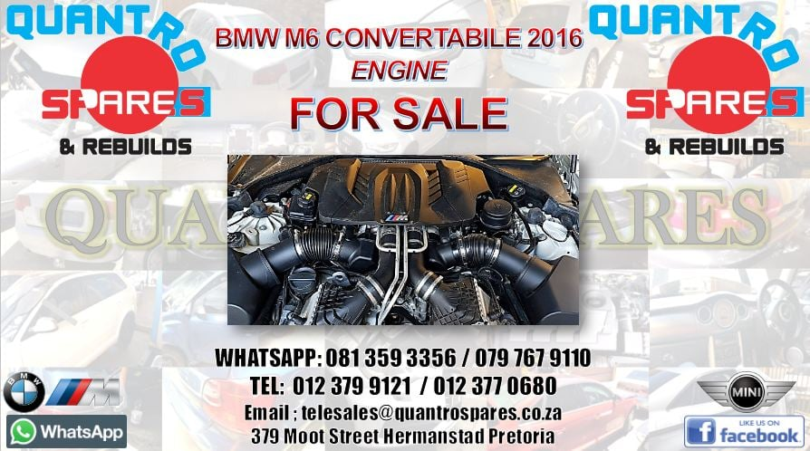 bmw m6 convertable 2016 engine for sale
