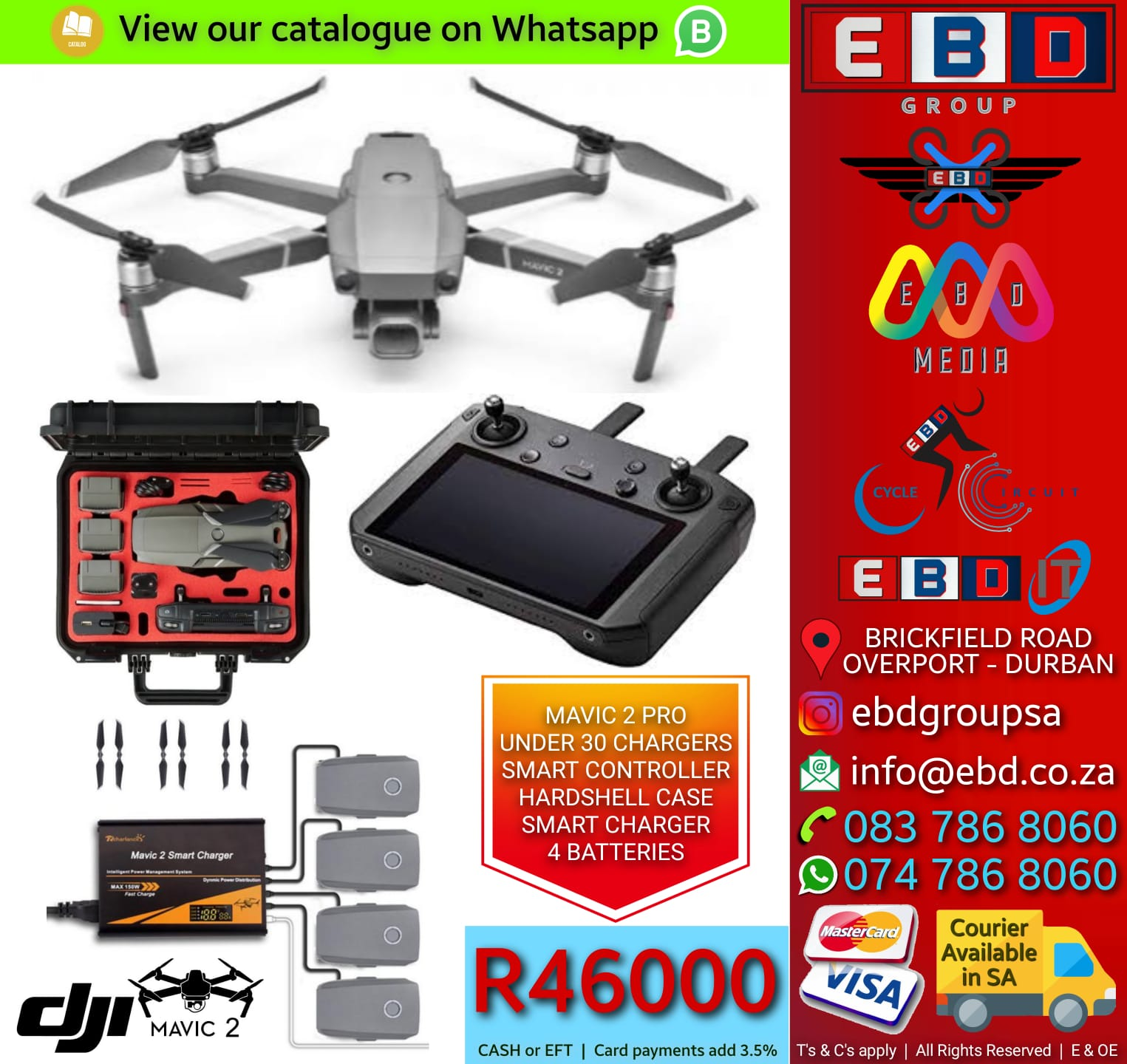 DJI Mavic 2 Pro with Smart Controller & Smart Charger