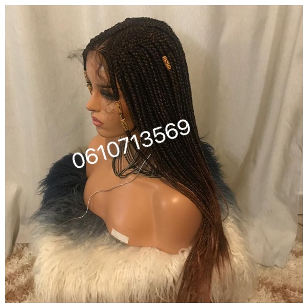 Beautiful lace frontal braided wigs with baby hair