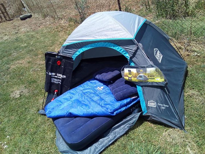 Camping gear with extra