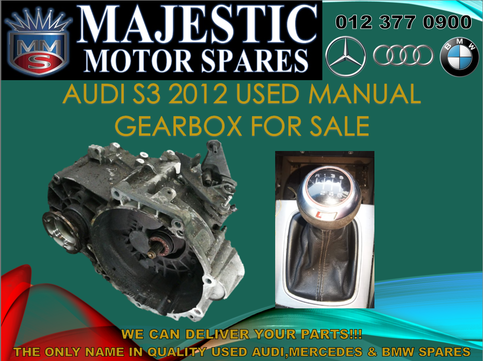 Audi S3 2012 model manual used gearbox for sale
