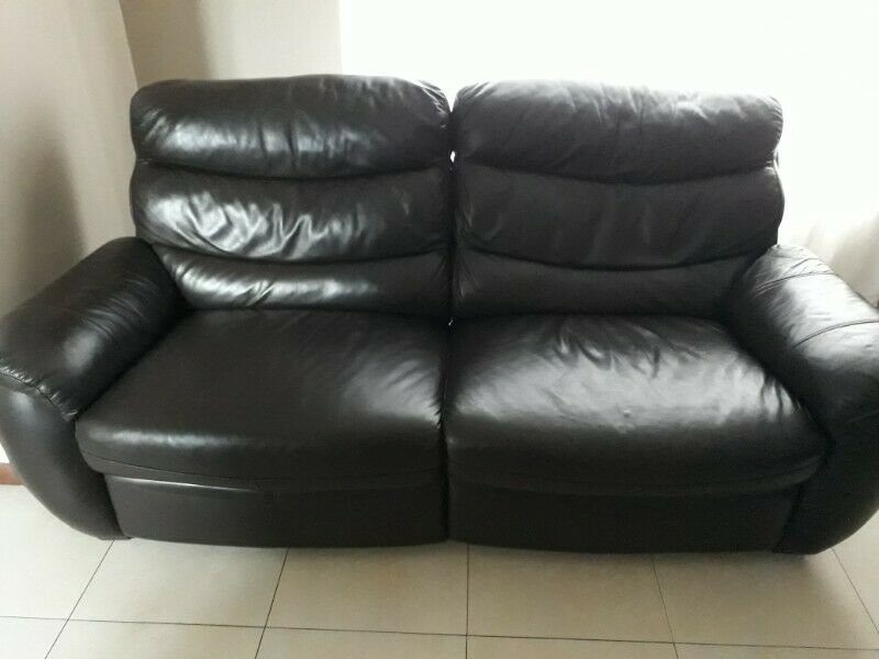 3 Piece Genuine Leather Recliner Set Couches For Sale In