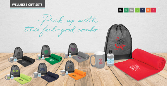 Drawstring bag wellness sets