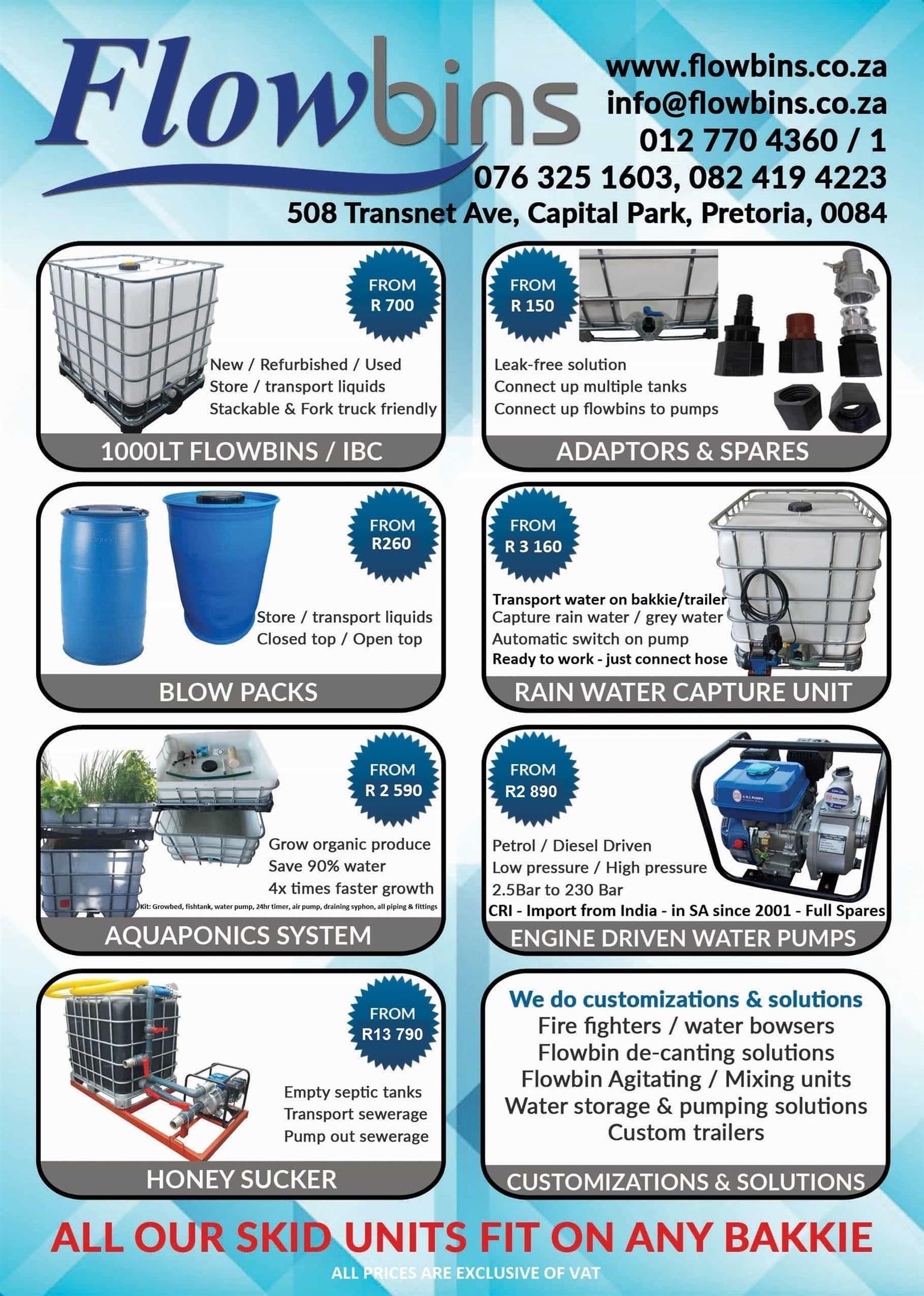 "Gauteng: CRI Petrol / Diesel Driven WATER Pumps - Self Priming - 2""/50mm to 3""/75mm"